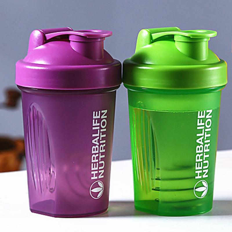 New Milchshake Bottle-Protein-Pulver Shaker Wasserflasche Sportflaschen 600ml Kessel Hidro Flasche Trinkgefäße My Drink Cup BPA FREI