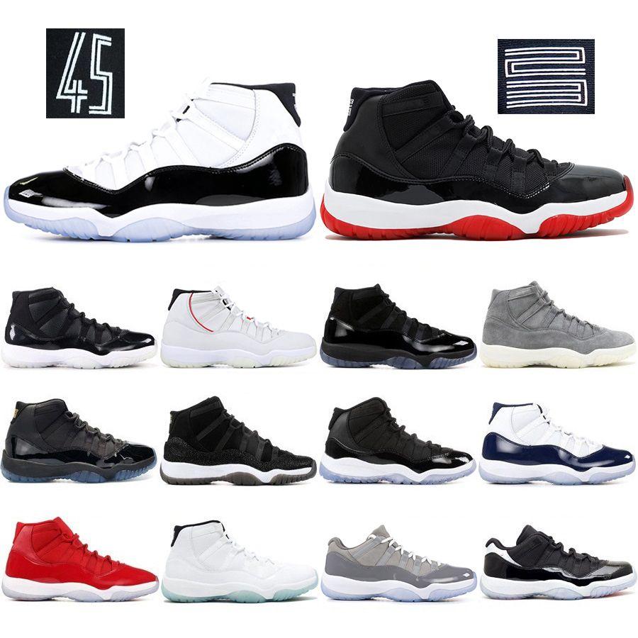 11 11'leri Erkekler Basketbol Ayakkabı Yeni Concord 45 Gama Mavi Space Jam Yüksek Win gibi 82 XI Erkek stilisti Sneakers UNC Spor Ayakkabı