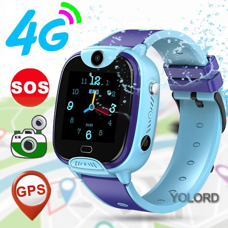 جميل لطيف هدية 4G الذكية ووتش GPS المقتفي LBS لتحديد المواقع نداء الأطفال سمارت كيدز الطلاب صبي فتاة ووتش الهاتف