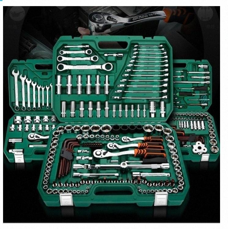 12/46pcs Wrench Socket Set Hardware Car Boat Motorcycle Repairing Kit Screwdriver Hand Tool Set car repair kit ltwx#