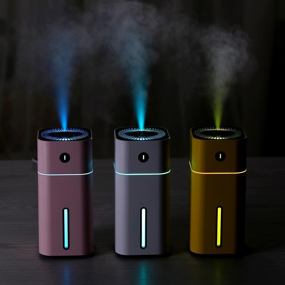 Ev için LED Gece Işığı Araç Sis Makinesi Hava Temizleme USB Hava Nemlendirici ile 180ml Mini Ultrasonik Aroma Nemlendirici Sisleyici