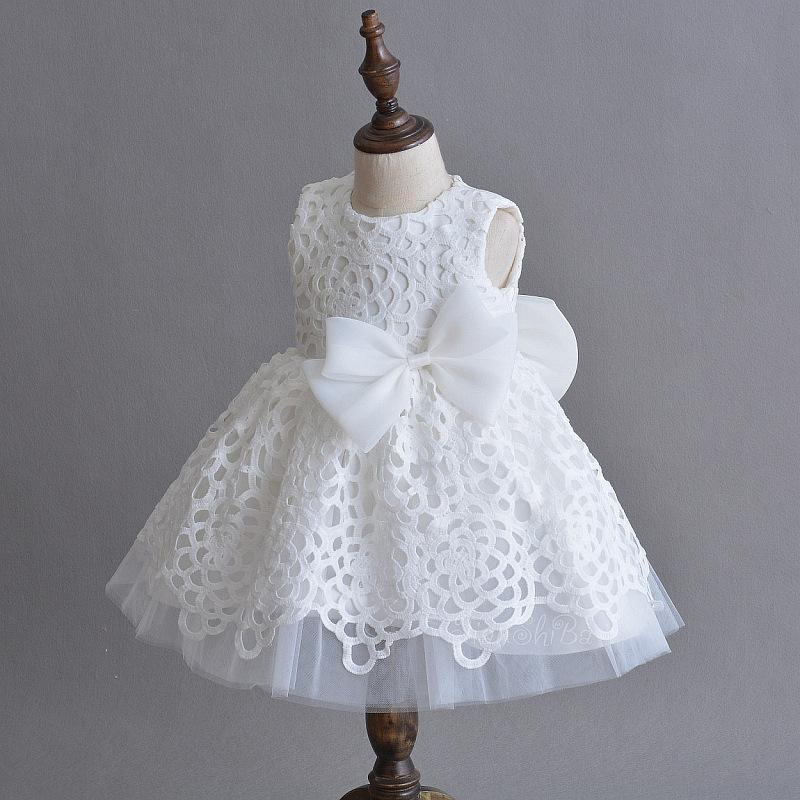 Fashion Baby Girls Dresses For Weddings Birthday Formal White Baby Girl Clothes Baptism Christening Baby Clothes Rbf184021 Y19061101