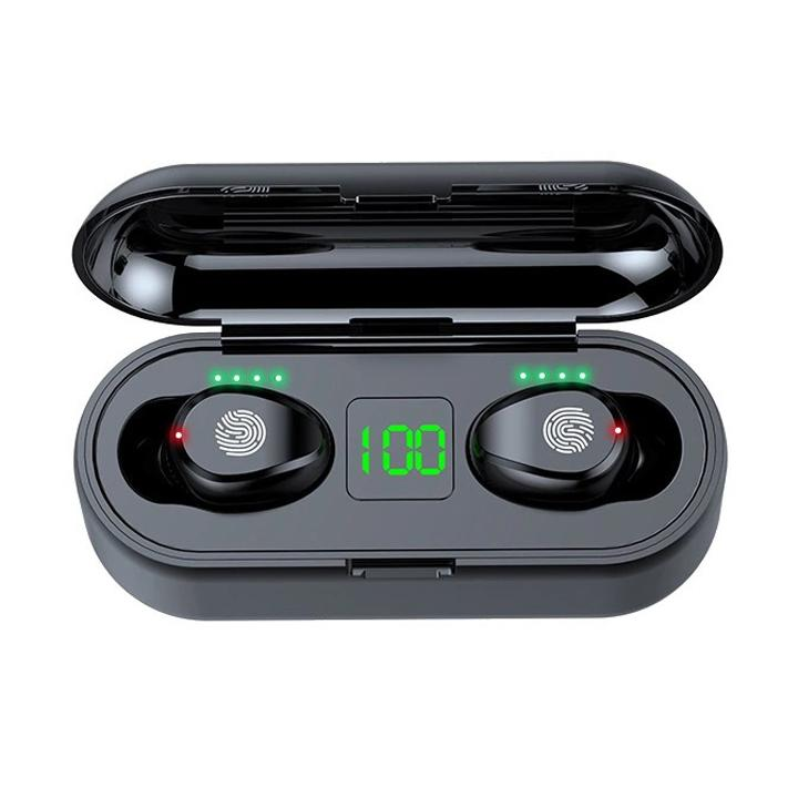 الرياضة سماعات لاسلكية بلوتوث 5.0 TWS بلوتوث سماعة رأس لاسلكية مع بطارية 2000mAh الشحن مربع تشغيل سماعة جيد اثنين من السماعات