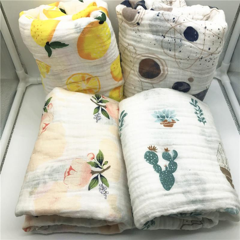 طفل بطانية طفل القطن الشاش قماط جودة بطانية أفضل من عدن أنيس الطفل القطن منشفة حمام غطاء الرضع التفاف الشحن المجاني 2020