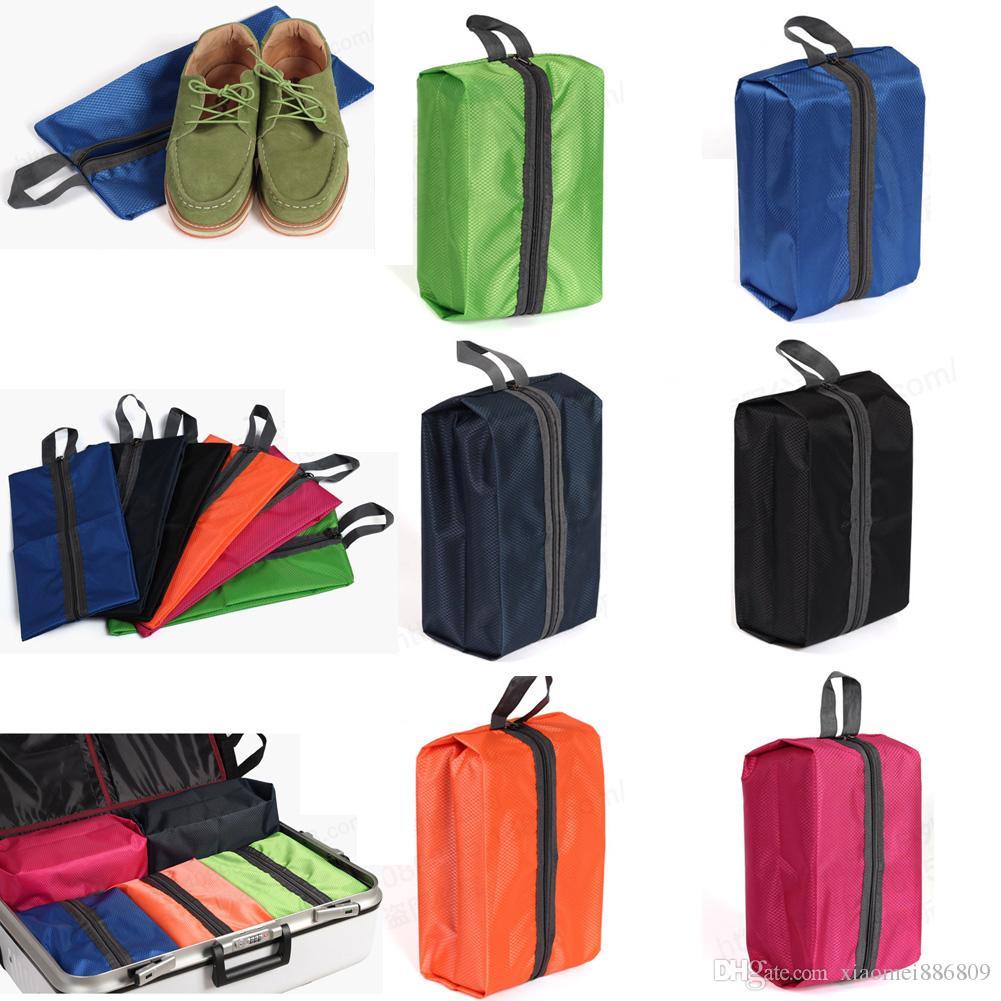 1 Adet Su Geçirmez Taşınabilir Ayakkabı Çanta Kılıfı Askı Seyahat Tote Tuvalet Çamaşır Kılıfı Saklama Kutusu Katlanabilir Organizatör Konteyner