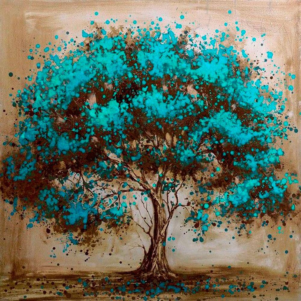 wholesale 5D Full Diamond Painting Life of Tree Square/Round Rhinestone Drill Hand Embroidery Home Art Decor Personalise Gift