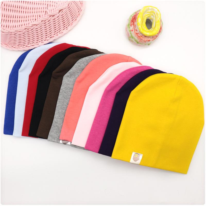 New Baby Street Dance Hip Hop Hat Cotton Spring Autumn Toddler Hat Scarf for Boys Girls Cap Winter Warm Solid Color Children