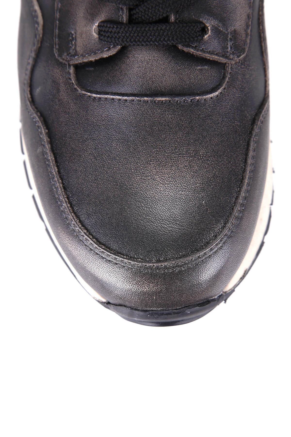 Derimod натуральная кожа антрацит мужчин Sneaker