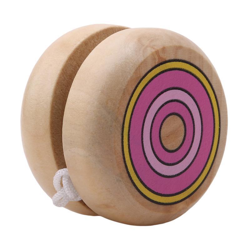 Toptan ahşap YOYO yo yo çocuklar klasik oyuncaklar noel hediyeleri parti iyilik anaokulu okul karnaval yağma çanta dolgu