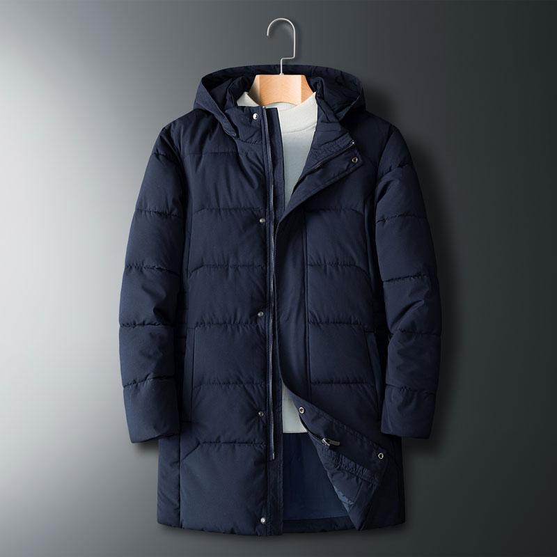 Плюс размер 8xl 7xl мужская длинный хлопок с капюшоном куртка пальто новый мужской повседневная зима теплая куртка мужчины толстая куртка пальто
