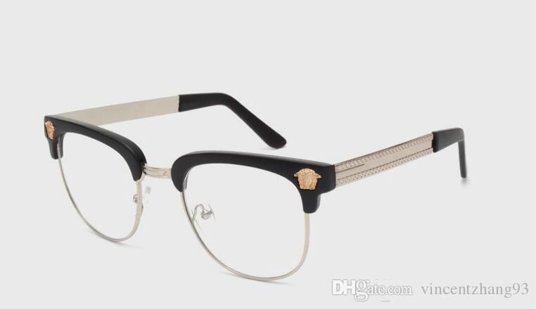 a un precio razonable nuevos productos para moda de lujo Compre Gafas De Lentes Sin Montura Para Gafas De Montura De Metal UV De  Color Negro De Alta Calidad Para Hombre Lentes De Lentes Transparentes De  ...