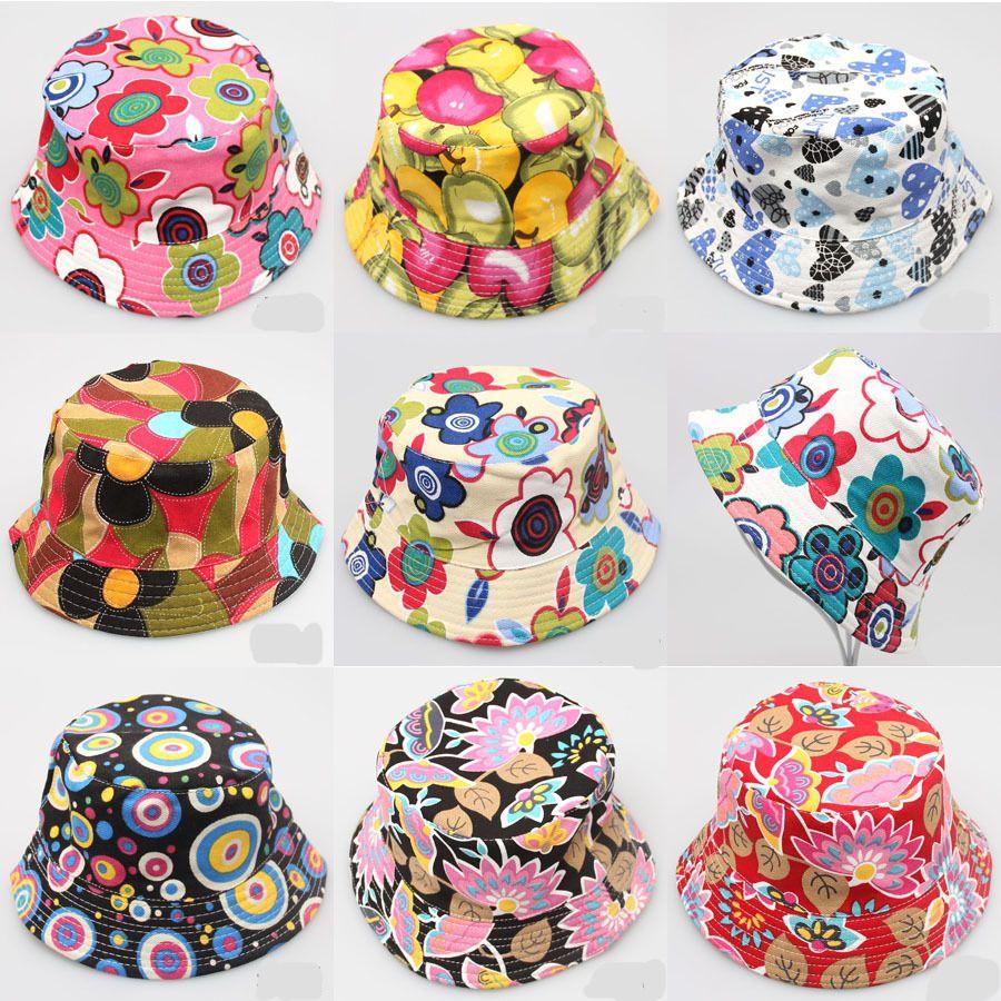 جديد لطيف أطفال بنات الصيف القطن دلو القبعات قبعة الشمس شاطئ قبعة قبعة جميلة الصيف عارضة الصيد كاب 30 ألوان