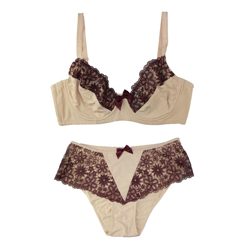 vente en gros de nombreux styles dentelle lingerie décorative arc femmes sous-vêtements soutiens-gorge et pantalons assortis Push Up Bra Set 32-44 B / C / D / DD