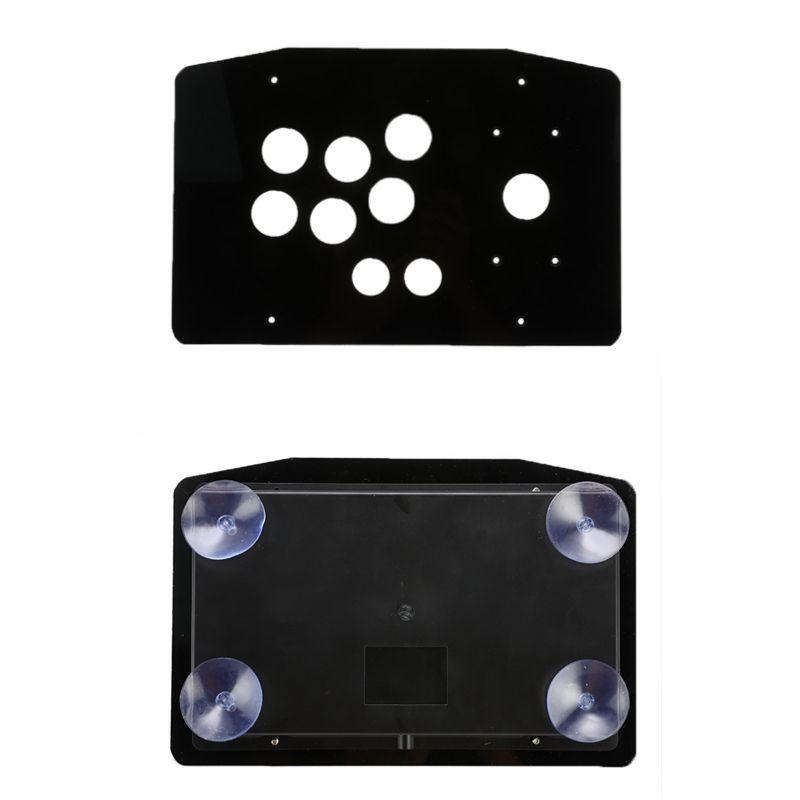 DIY Clear Black Arcade Joystick Ersatz Acrylic Panel-Koffergriff Arcade Game Kit Robuste Konstruktion Einfache Installation