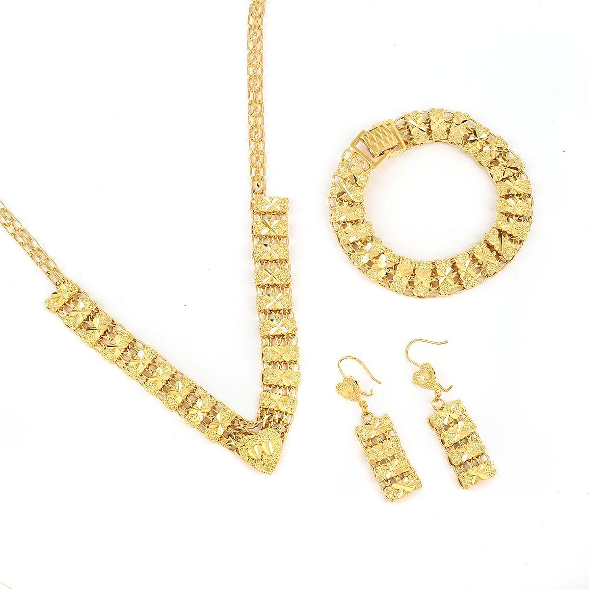 Las joyas de oro baratas más nuevas Dubai Dubai Gold Jewellery Set Turco Egipcio Argelia India Marroquí Arabia Saudita Joyería de oro
