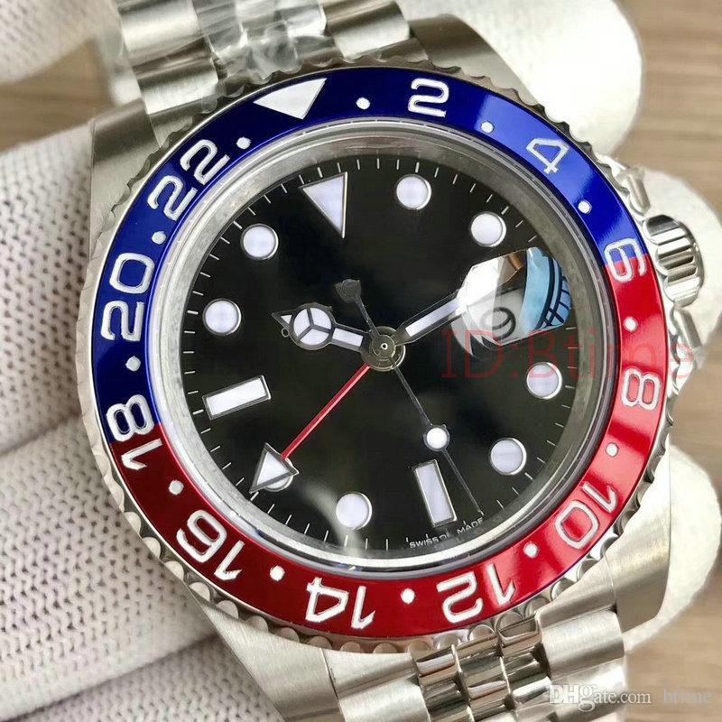 새로운 세라믹 베젤 남성 기계 스테인레스 스틸 오토매틱 무브먼트 시계 스포츠 셀프 바람 축제 시계 손목 시계는