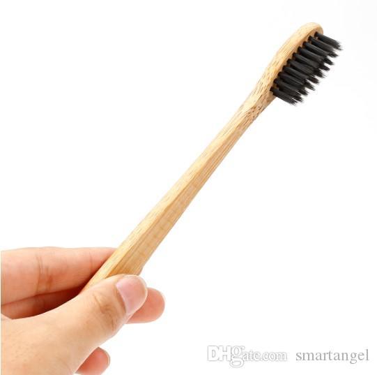 الخيزران فرشاة الأسنان العناية بالفم الأسنان فرش البيئية لينة tanden rager فرشاة الأسنان الطبيعية Nylon Wood Handle