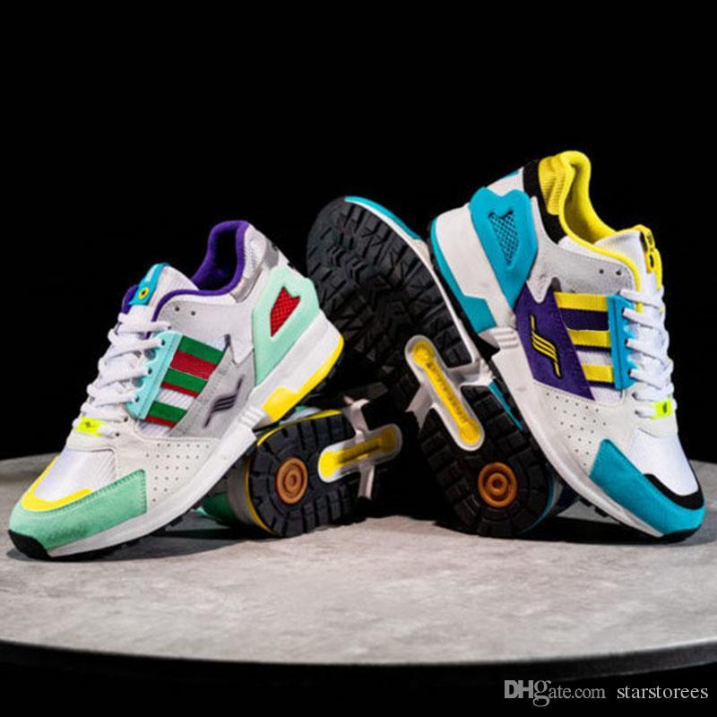 EQT 4 ZX ZX Consorcio 10.000C de los zapatos corrientes que puedo si quiero transpirable manera de las mujeres de los hombres zapatillas de deporte Elasticidad