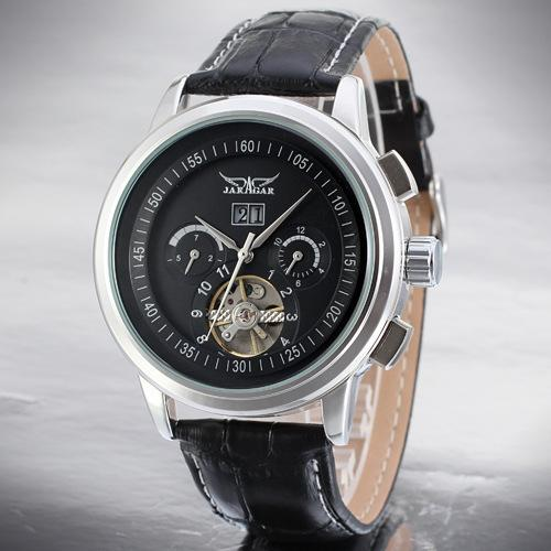 Freizeit Herrenarmbanduhr Ausgehöhlte Armbanduhren Vollautomatische Mechanikerarmbanduhr