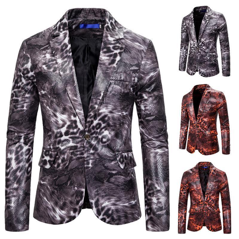 Erkek Motosiklet Stil Gri Yılan derisi Desen Eşsiz Tasarım Blazer Coats Erkekler Parti Talicoat Nightclub Şarkıcı Performans Giyim