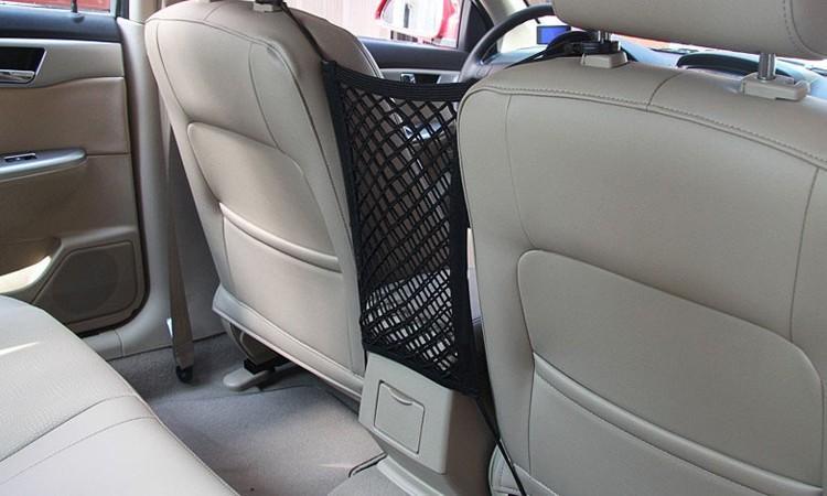 Neueste Sitzspeicherung mit Barriere Anti-Collision Auto Kind Pet Rückenschutz Elastische Mesh Aufbewahrungstaschen Autosicherheit Das Gitter Xolbq