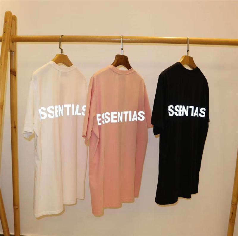 Nuovo 3M Reflective FOG Essentials T-shirt da uomo Wome di migliore qualità Essentials magliette T superiori Harajuku