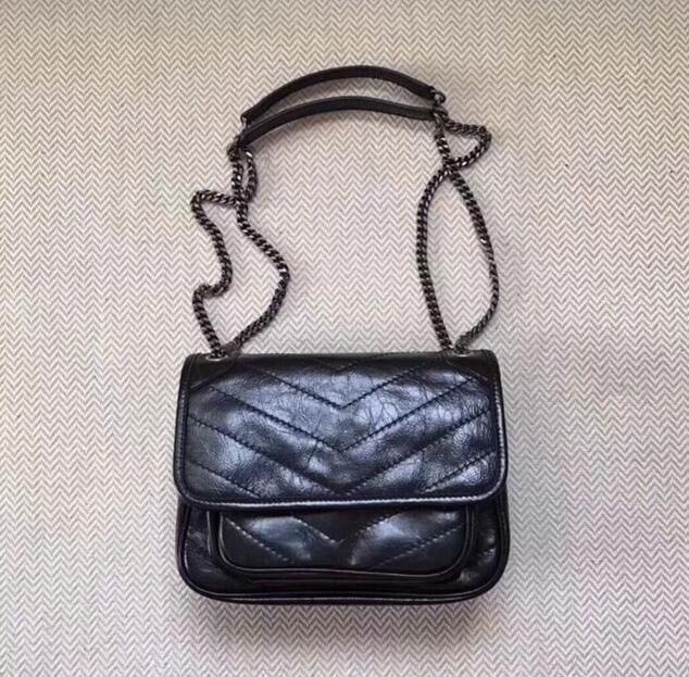Leder 2019 Europa und die neue Kette Tasche weibliche Leder retro Umhängetasche mit großer Kapazität Schulter Messenger Bag