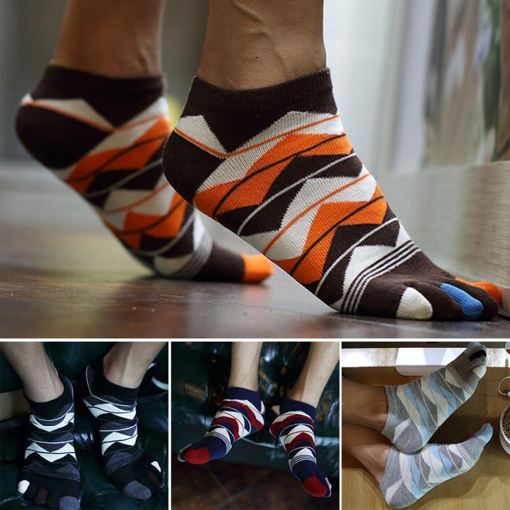 1 Paar Männer Frauen Unisex Socken Baumwolle Fünf Finger Socken Toe Männer Zubehör 4 Farben