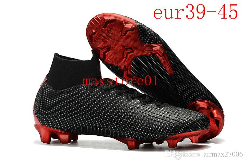 019 zapatos de fútbol Superfly VI FG Elite 360 KJ 6 XII 12 CR7 SE Ronaldo Neymar Hombres Mujeres Niños Outdor Botas de fútbol Cleats12