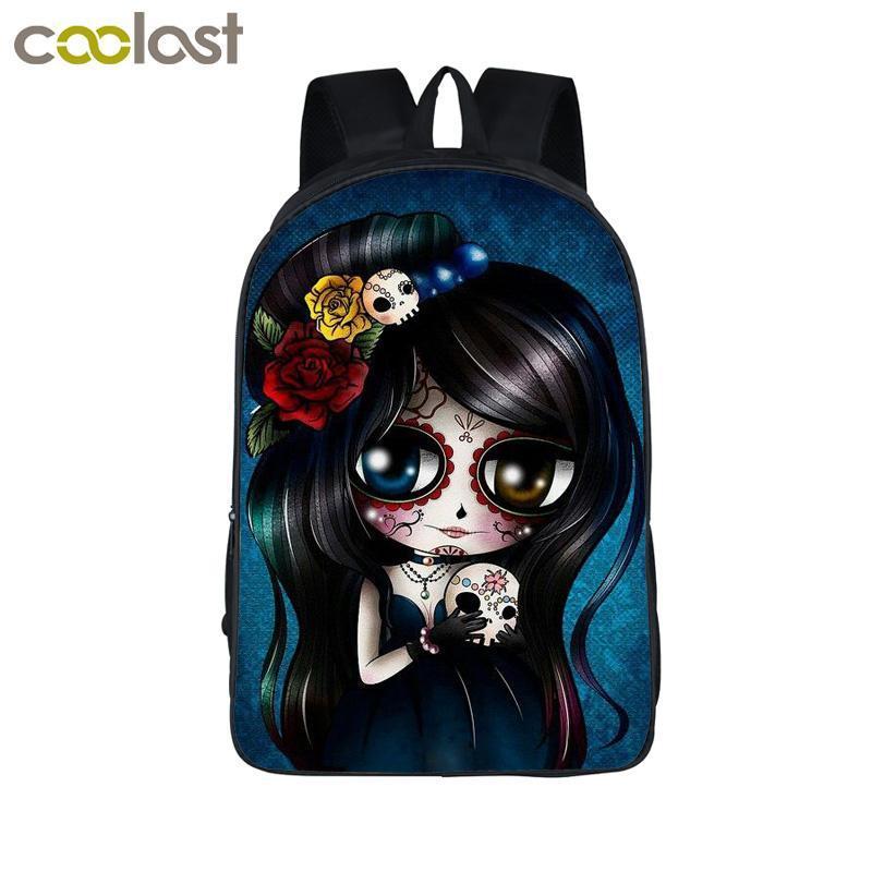 Cartoon 100% Brand Designer Girl Backpack for Teenagers Girls School Bags Rock Punk Animal Backpack Children School Backpacks Kids Gift Bag
