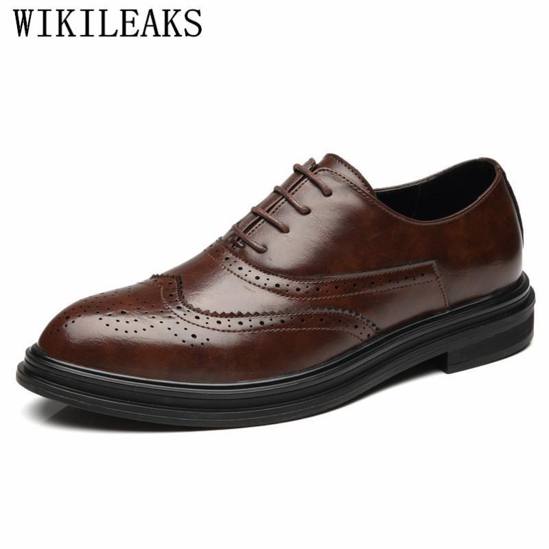 Cuir véritable Hommes Chaussures formelles Hommes Oxford Chaussures pour hommes Chaussures richelieu Sapato Masculino Social Chaussures Hommes Pointu