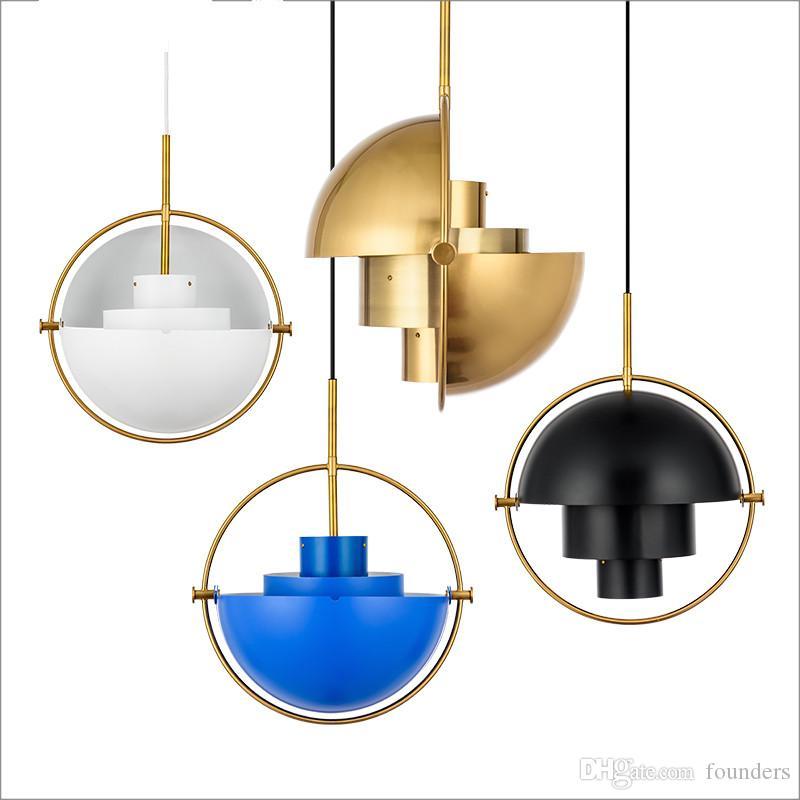 Designer post-moderno bar ciondolo luce ristorante studio camera da letto comodino personalità creativa lampada a sospensione semicircolare 90-265V