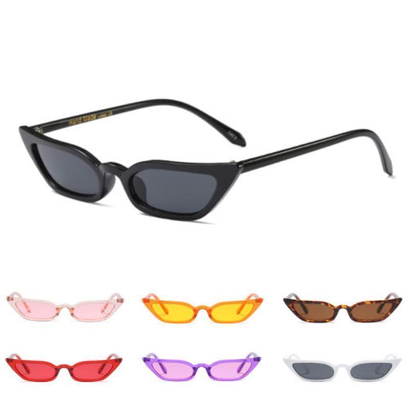 Frau Hohe Qualität Trendy Retro Brille Brillen Brillen Eye Hot Bunte Kleine Transparente Bunte Sonnenbrille Neue Mann Katze Verkauf Wiqcr