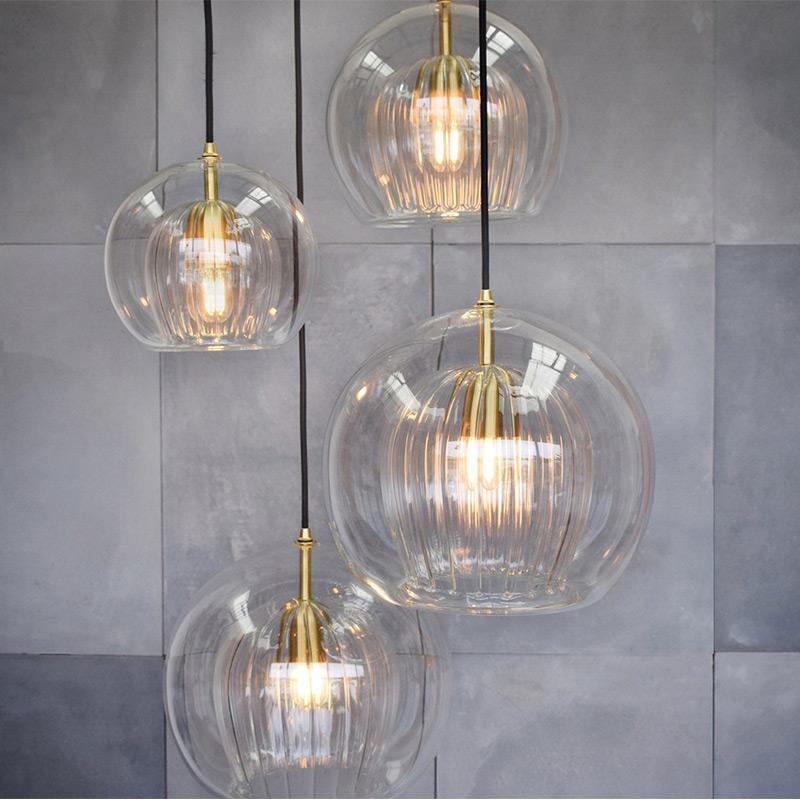 غرفة نوم بجانب مصباح معلقة تناول الطعام مطعم غرفة الشمال الفن الإبداعي معلقة أضواء غرفة السلالم زجاج معلق الإضاءة