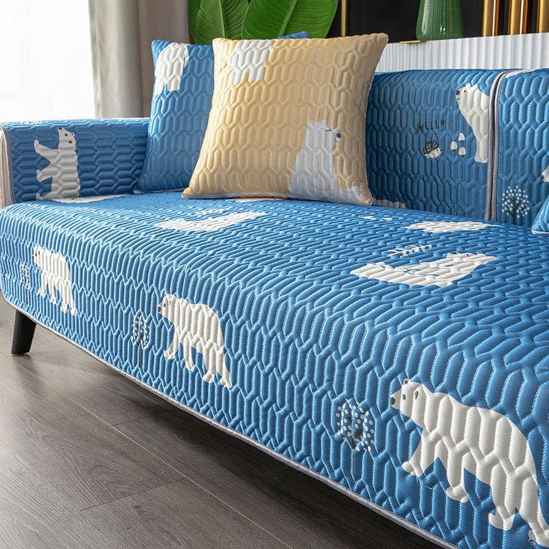 Summer ice silk latex sofa cushion mat cushion summer models non-slip four seasons universal full cover sofa cover
