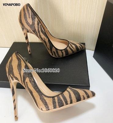 الجملة ليوبارد طباعة الجلد المدبوغ المرأة مضخات الضحلة أشار تو أحذية عالية الكعب الإناث الزفاف حزب أحذية امرأة 2019 الربيع