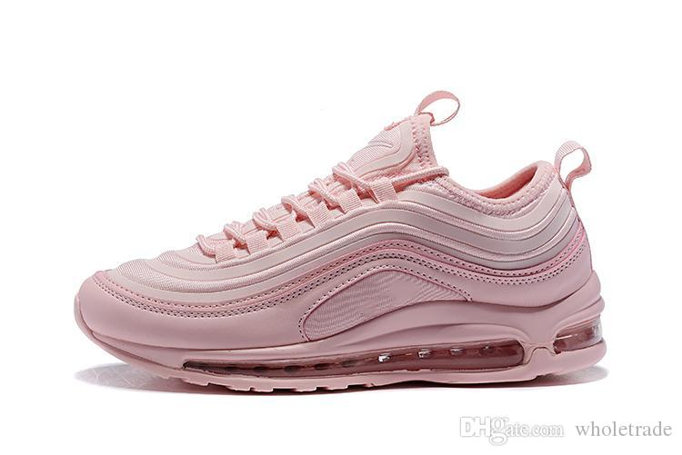 best website c23d1 38e9c Womens Air 97 QS Running Shoes Light Pink Blush Girls 97s QS Pack Flips  Metallic OGs Sneakers US Size 5 8.5 Shoes Sports Sports Shoes For Women  From ...