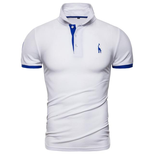 T-shirts Chemises Tops Dropshipping 13 couleurs NEGIZBER Marque Soild Broderie Polo girafe manches courtes hommes Polos Hommes Casual Cotton Polo