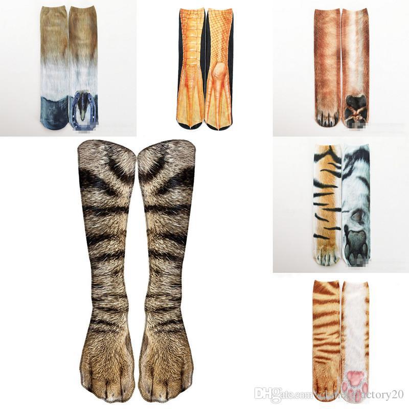 Chaussettes 3D griffe animal griffe imprimé femmes hommes hip hop bocking coton hiphop 24 couleurs