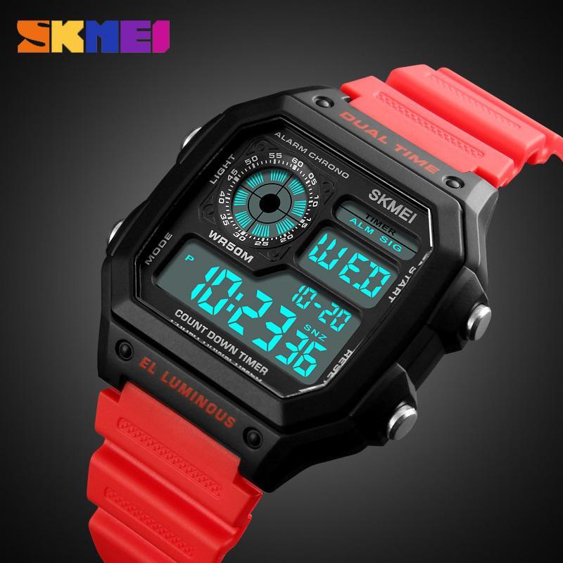 SKMEI Sports Watch Men Top Brand Luxury Famous LED Digital Watches Male Clocks Men's Watch Relojes Deportivos Herren Uhren LY191226