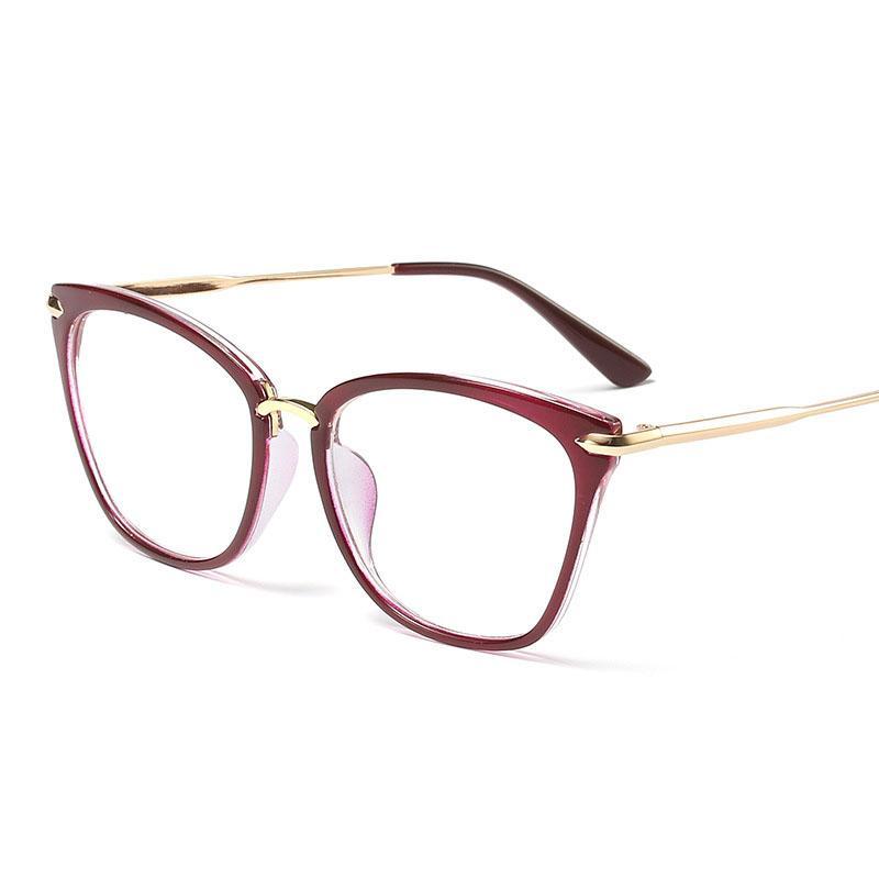 Оптово-Новое Предписание Ultra Light Рамка Мода квадратные Чтение очки Opties Frames Модная Марка очки для женщин ретро