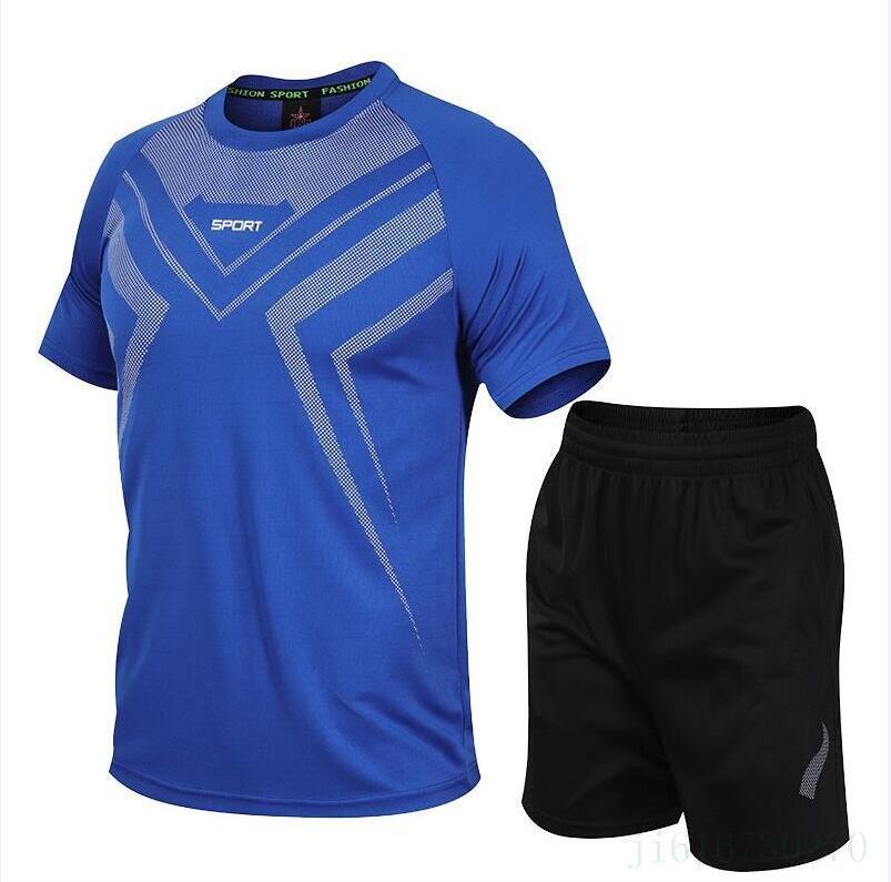 doppio Nuovo stylesummer 1 Maglia bambini del piede di calcio Survêtement fare jogging chandal Equipe de France Tops + Pants Mens sottili