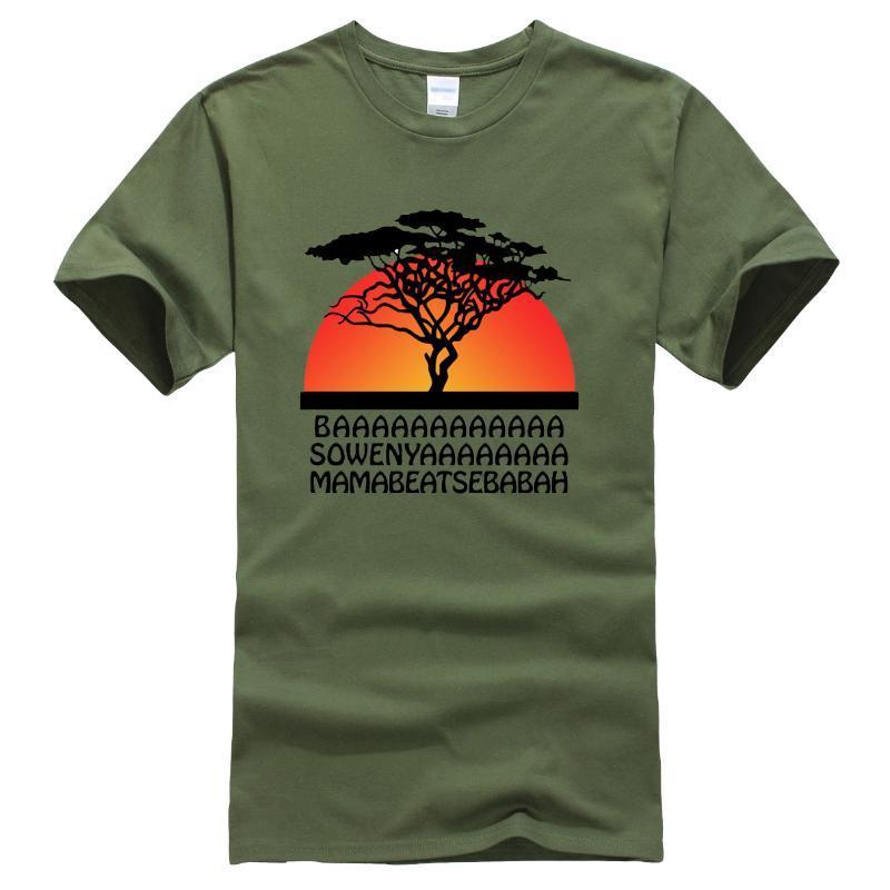 Мультфильм Лев Kings Printing Мужские футболки лето 2020 Новый Повседневный Tops Hip Hop Хлопковые футболки Мода Streetwear Мужской тенниска