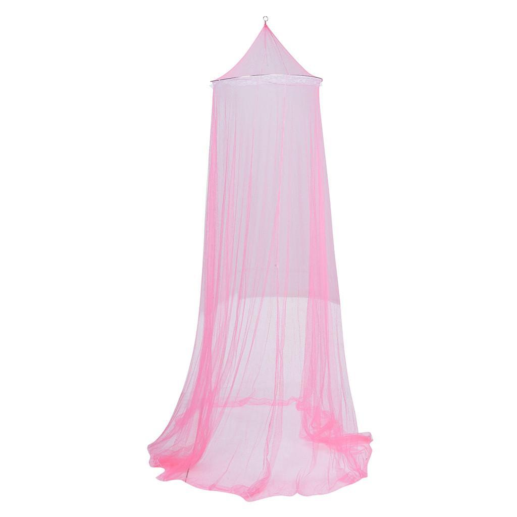 Cama redondo del cordón de insectos Canopy Red Curtain Cúpula Mosquitera elegante Carpa Mosquito Repelente de insectos Rechazar cortina de la cama con dosel