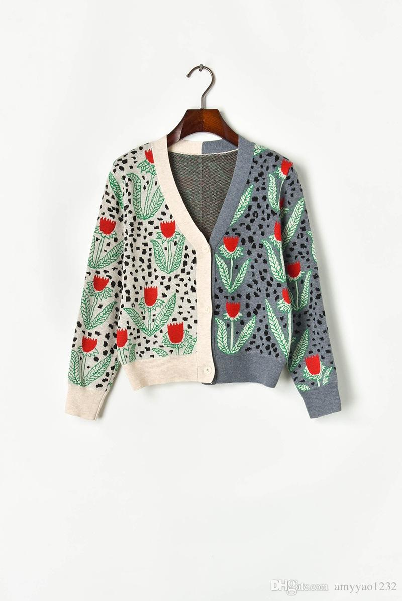 812 2019 Herbst Pullover Langarm V-Ausschnitt Marke Gleichen Stil Pullover Luxus Damen Kleidung XIAOERMEI
