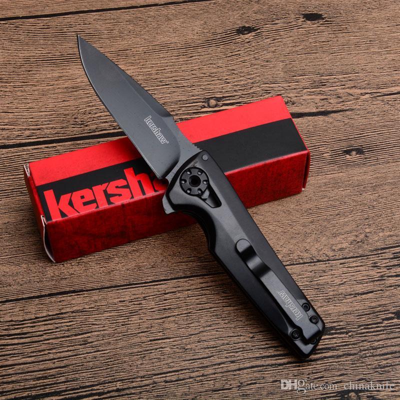 Hot sale!! Kershaw 1988 Assisted Open Flipper Folding Knife 8Cr13Mov Black Blade T6061 Aluminum Handle EDC Pocket knives