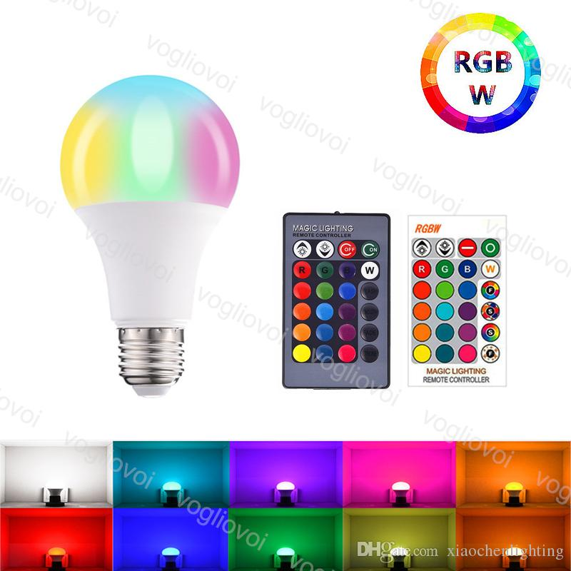 LED Bulbs RGBW 3W5W10W15W 85~265V Black or White 24key Controller with Memory 16 Color Multicolor Global Light For Christmas Halloween Home