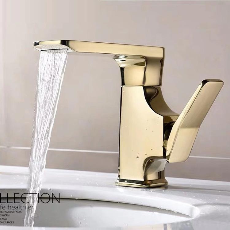 Robinet Robinet, bassin de cuivre eau chaude et froide robinet haut de gamme Hôtel Creative bassin pour les mains sous le comptoir bassin robinet
