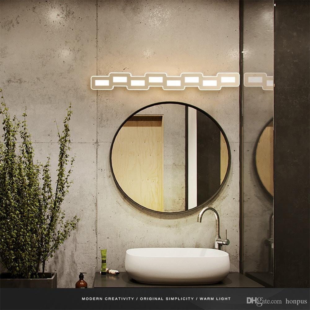 Yaratıcı grafik kombinasyonu led ayna farlar Yatak odası banyo tuvalet basit post-modern İskandinav ayna farlar