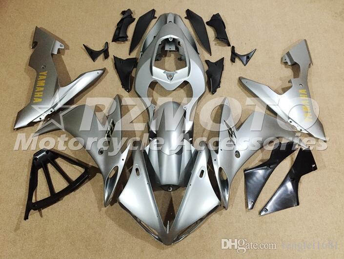 Qualità OEM nuovo ABS completa carenatura kit di misura per YAMAHA YZF R1 04 05 06 YZF1000 2004 2005 2006 R1 carrozzeria grigio set personalizzato
